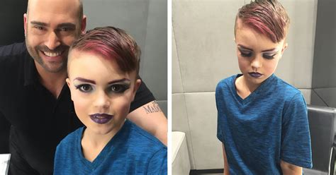 8 year boy wanted to learn makeup and his bought