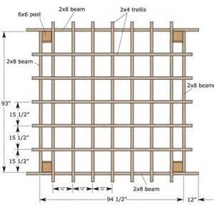 Blueprints To Make A Toy Box by Pergola Trellis Ideas Woodideas