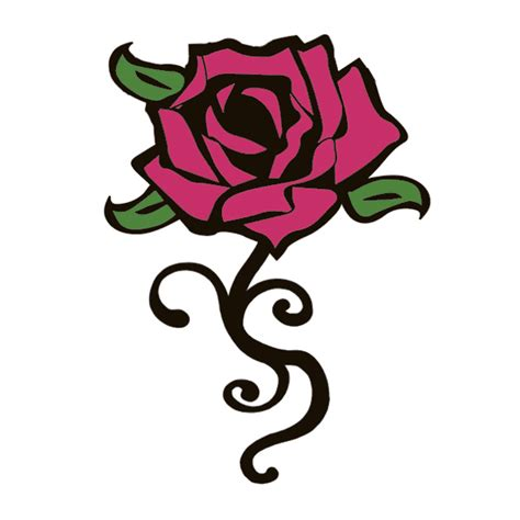 rose temporary tattoo curly tattooforaweek temporary tattoos