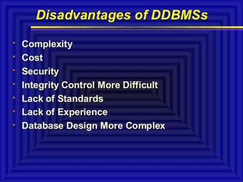 design guidelines in dbms distributed database system