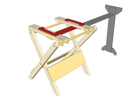 folding miter  stand plans plans ibuilditca