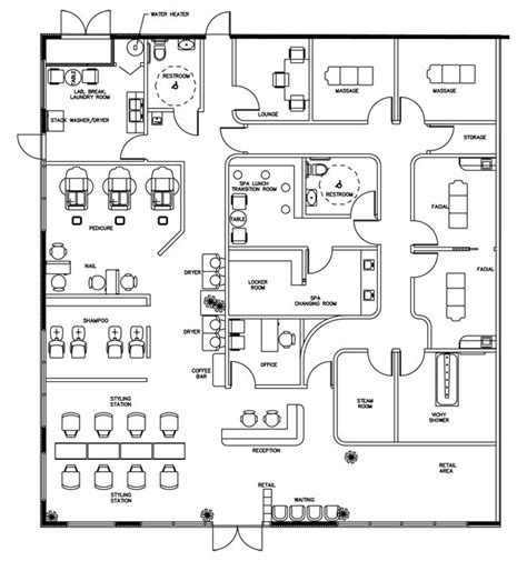 salon design salon floor plans salon layouts beauty salon floor plan design layout 3375 square foot