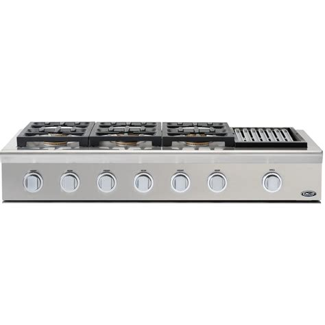 48 Inch Gas Cooktop dcs professional 48 inch 6 burner propane gas cooktop with