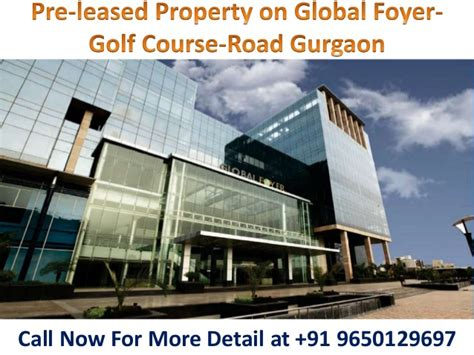 rented property  global foyer golf  road gurgaon