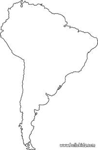 maps coloring pages south america