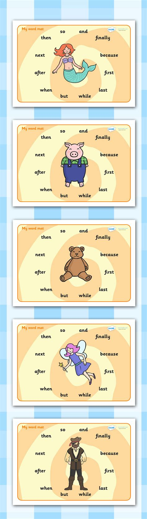 Connective Word Mat by Twinkl Resources Gt Gt Connectives Word Mats Gt Gt Printable Resources For Primary Eyfs Ks1 And Sen