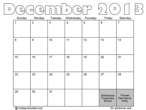 free printable december 2013 calendar with holidays 2013 calendar printable holidays calendar template 2016