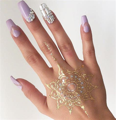 Rhinestone Nail by Stunning Rhinestone Nail Designs To Try Out