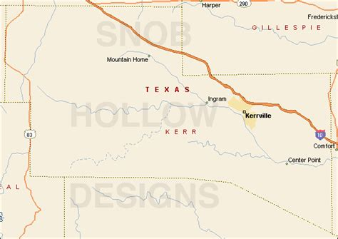 map of kerr county texas kerr county texas color map
