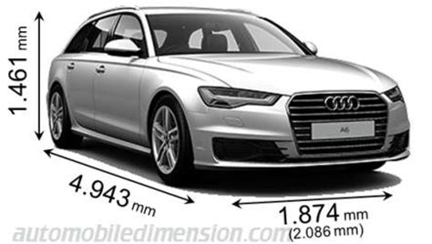 dimensions of audi cars showing length, width and height