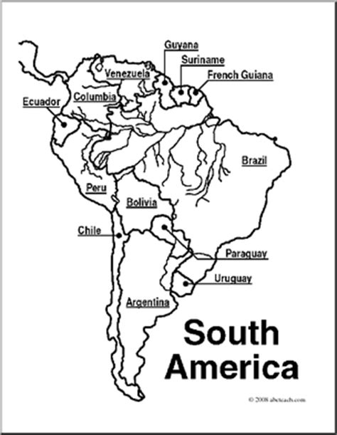 latin america map coloring pages south america clipart 30