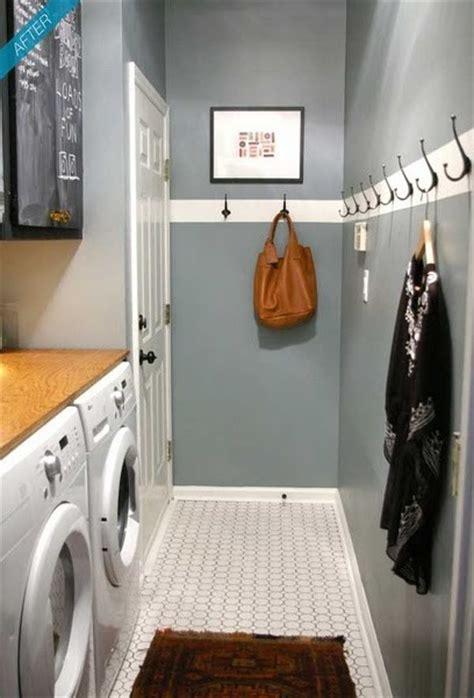 narrow utility room laundry