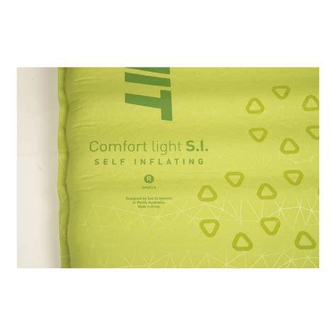 sea to summit comfort light sea to summit comfort light self inflating mat sleeping