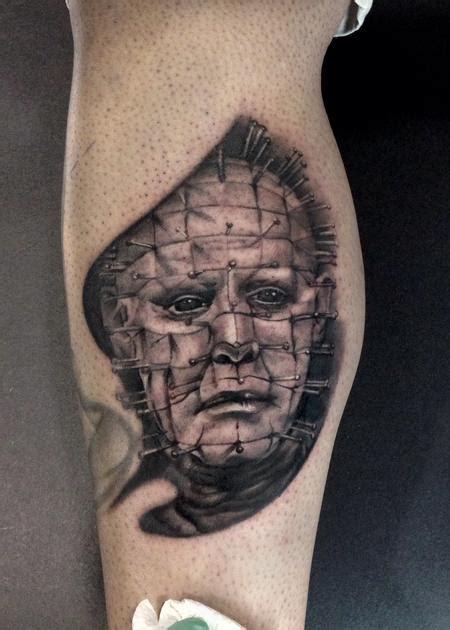 pinhead tattoo junkies studio tattoos part leg sleeve