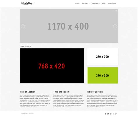 bootstrap photography template updated portfolio bootstrap projects