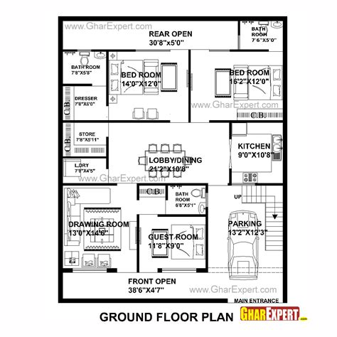 house plan for 40 feet by50 feet plot plot size 222