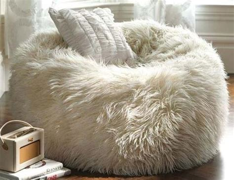 Design For Faux Fur Bean Bag Chair Ideas Modern Interior Design With Handmade Leather And Fur Accessories