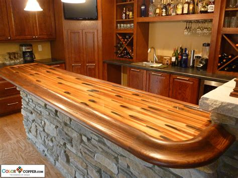 how to build a wood bar top stellar color copper bar top by dchi homerefurbers com