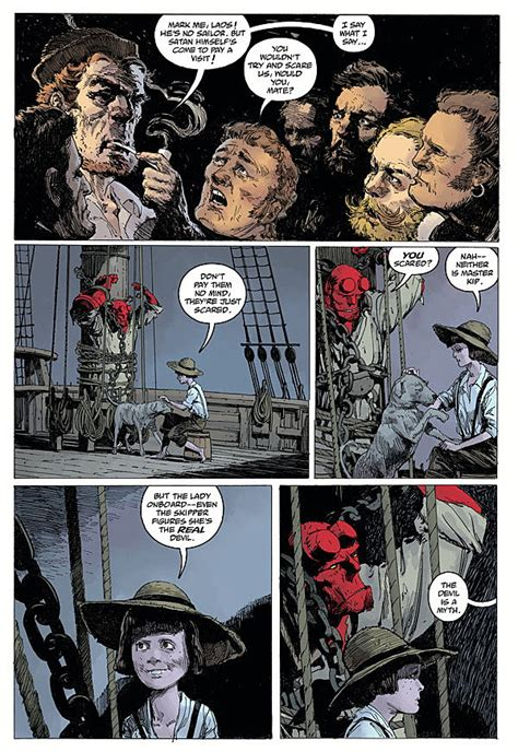 libro hellboy into the silent hellboy is ocean bound as he sails into the silent sea