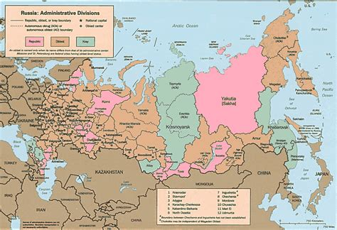 russian map maps of russia