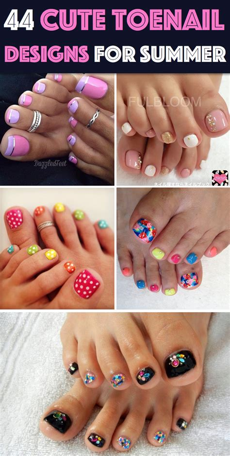 44 easy and toenail designs for summer diy