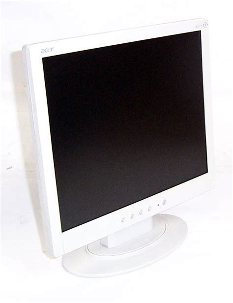 Monitor Lcd Acer 17 Inch Second acer al1711 w 17 inch lcd monitor white grade b ebay