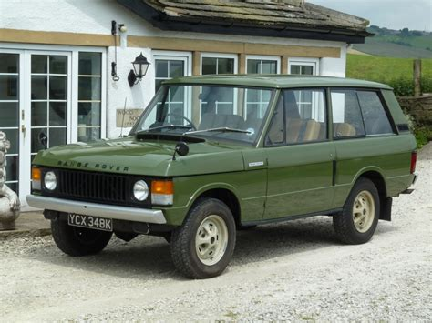 land rover one ycx 348k 1971 classic range rover 2 door suffix a