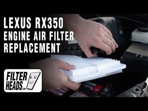 how to replace engine air filter 2007 2009 lexus rx350 v6