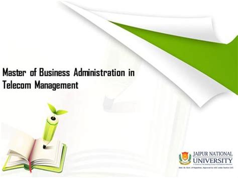 Mba In Telecommunication by Mba In Telecom Management Authorstream