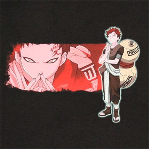 Tshirt Anime Gaara Of The Sand gaara sand anime black graphic t shirt