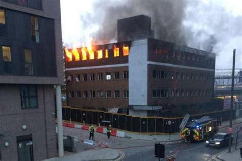 stratford fire firefighters battle huge blaze  office