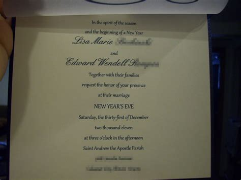 a new year s eve wedding invitation weddingbee