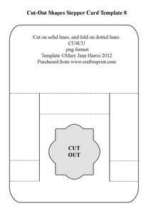 a4 stepper card template jar tri fold card template cu4cu cup291558 99