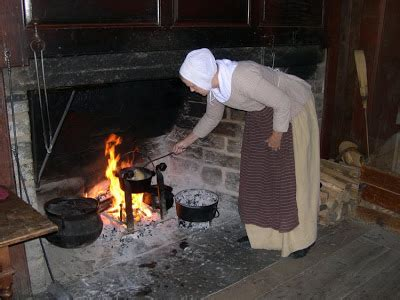 Cooking In The Fireplace by Greenfield Open Air Museum Daggett Farmhouse