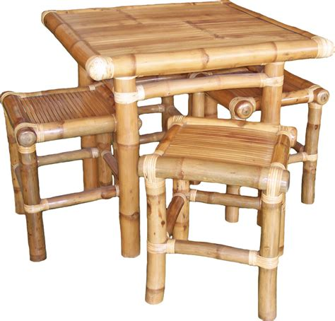 bamboo table and chairs chairs and tables buglas bamboo institute