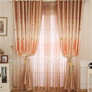 Red And White Striped Valance Garden Flower Style Gradient Orange Polyester Ready Made
