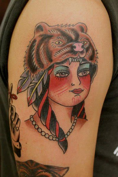native american girl tattoo american pictures to pin on tattooskid