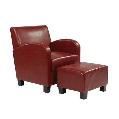 red leather chair and ottoman faux leather chair and ottoman in crimson red met807rd