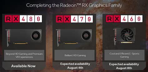 Digital Alliance Ati Radeon Rx 460 4gb Ddr5 128bit amd annonce les radeon rx 470 et rx 460 cartes