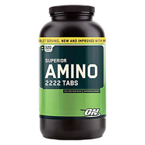 superior amino 2222 (320 tablets) by optimum nutrition at