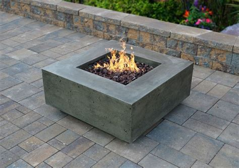 square fire pit midcentury denver with rectangular