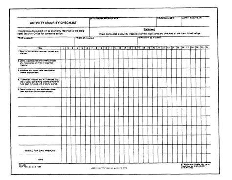Standard Form 701 Pdf Download