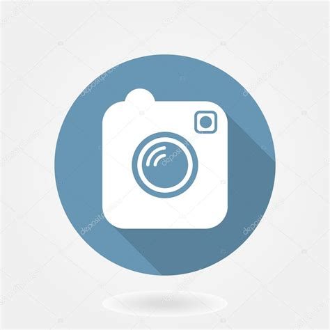 photo design like instagram camera like instagram icon with flat design stock vector