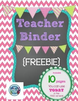 printable binder covers for teachers free printable teacher s binder chalkboard style by