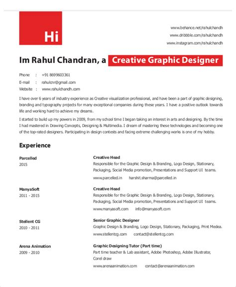 graphic design resume template pdf graphic designer resume template 11 free word pdf
