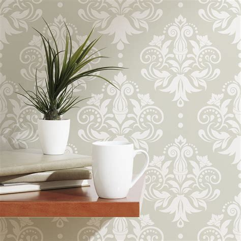 removable wallpaper damask removable wallpaper tile