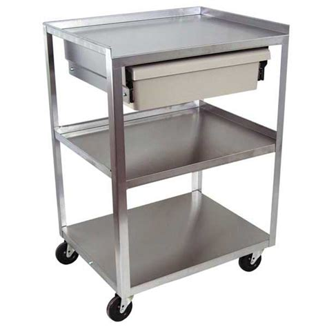 Stainless Steel Cart With Drawer by 3 Shelf Stainless Steel Carts With Drawers