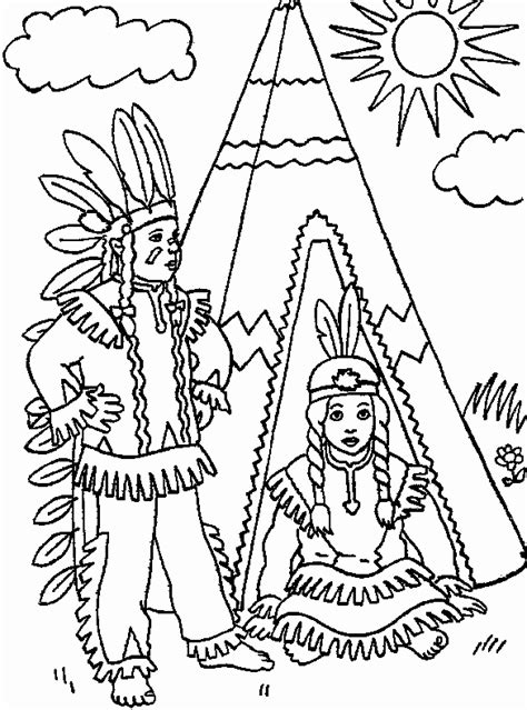 Indian Color Page indian coloring pages coloringpagesabc