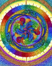 colorful mandala colorful mandala sacred geometry