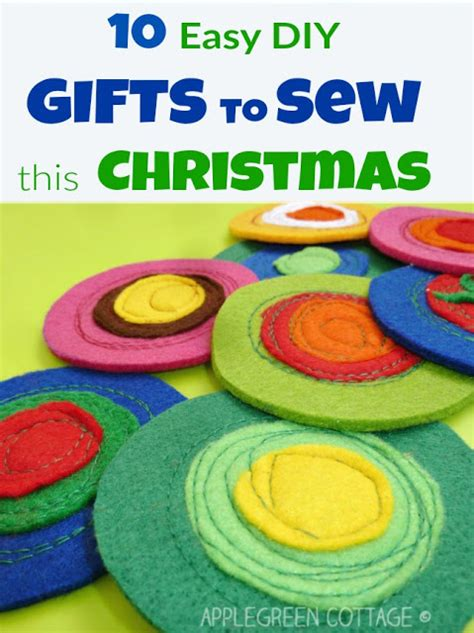 10 easy diy gifts to sew this christmas applegreen cottage